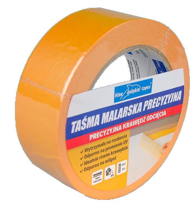 Taśma malarska precyzyjna pomarańczowa MTPPO